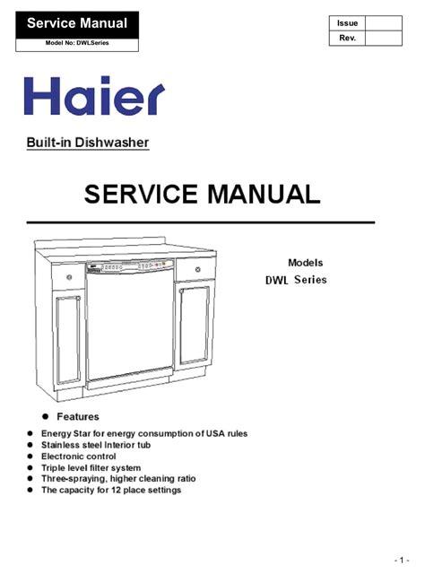 Haier Dishwasher Owners Manual (ePUB/PDF) Free