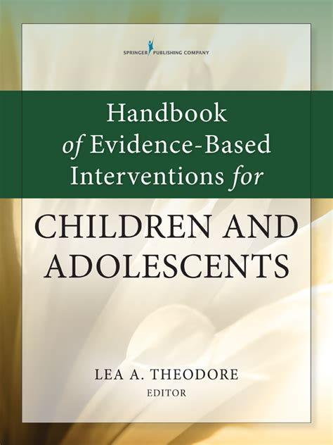 Handbook Of EvidenceBased Interventions For Children And Adolescents