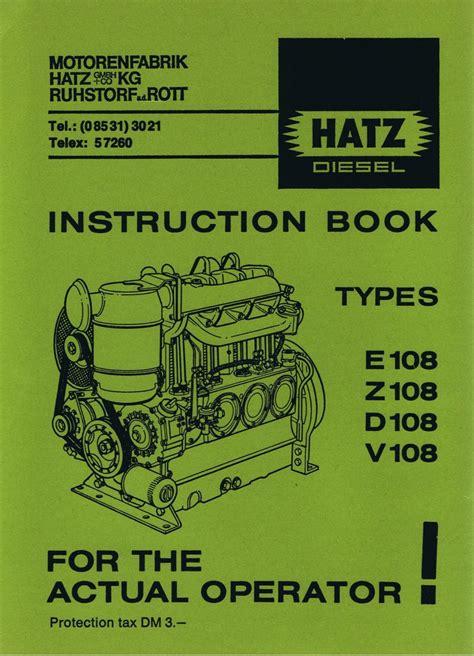 Amazing Hatz 108 Instruction Manual Epub Pdf Wiring Cloud Scatahouseofspiritnl