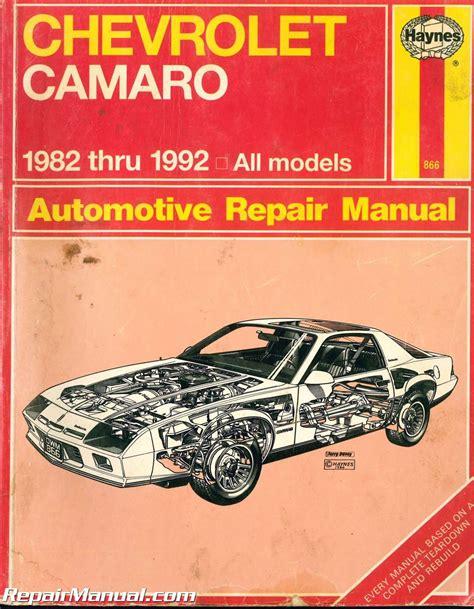 Haynes Repair Manual Chevrolet Camaro 1978 (ePUB/PDF)
