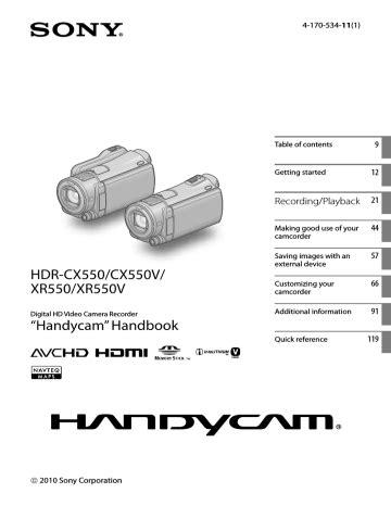 Hdr Cx550v Manual (ePUB/PDF)