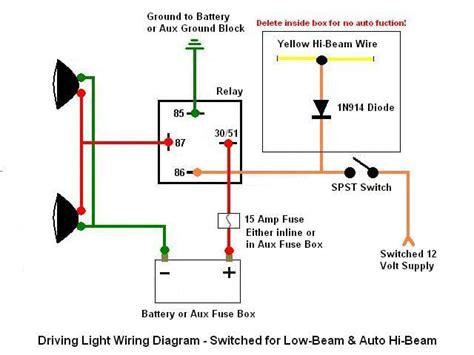 high low beam wiring diagram