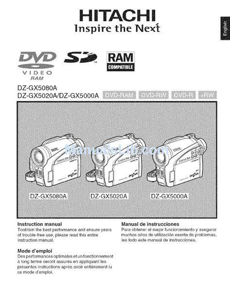 Hitachi Dzhs500a Manual (ePUB/PDF)