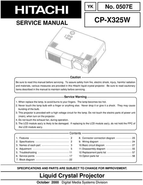 Hitachi Projector Manual (ePUB/PDF)
