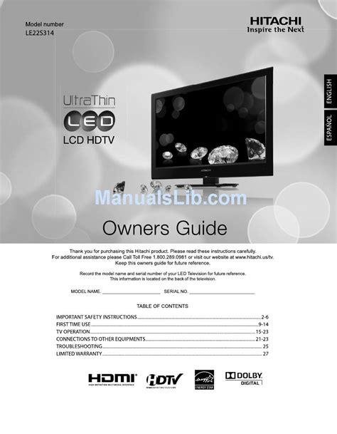 Hitachi Video Manual (Free ePUB/PDF) on