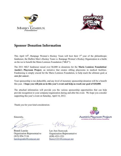 Hockey Sponsorship Request Letter (ePUB/PDF) Free