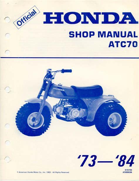 Honda Atc70 Service Manual Repair 1973 1985 Atc 70 (Free