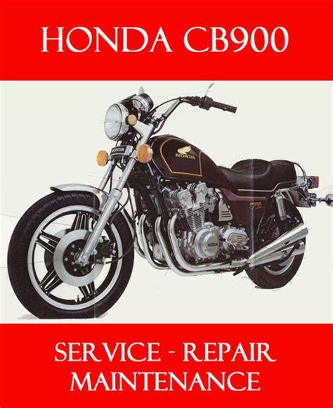 Honda Cb 900 Service Manual 1980 1982 Online Parts Catalogue ...