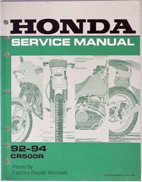Honda Cr500r Service Manual Repair 1992 2001 Cr500 (ePUB/PDF)