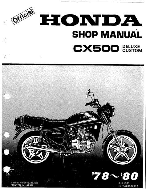 Honda Cx500 Repair Manual (ePUB/PDF)