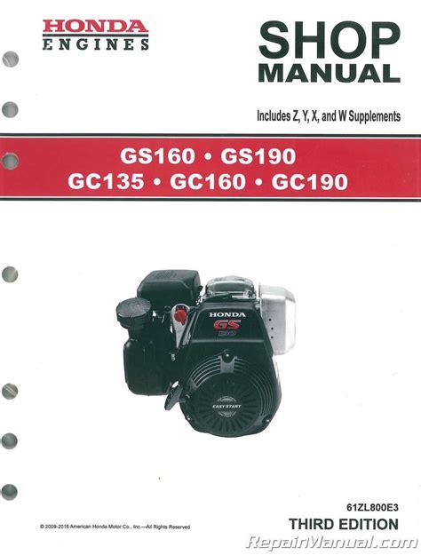Honda Gc160 Shop Manual (ePUB/PDF)
