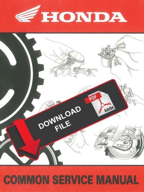 Honda Personal Watercraft Manual (ePUB/PDF)