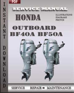 Honda Shop Manual Bf50a (PDF files/ePubs) on