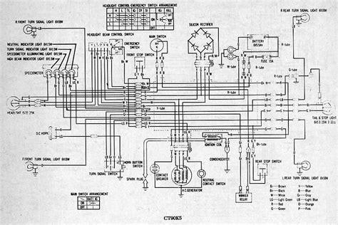 honda trail 90 wiring diagram