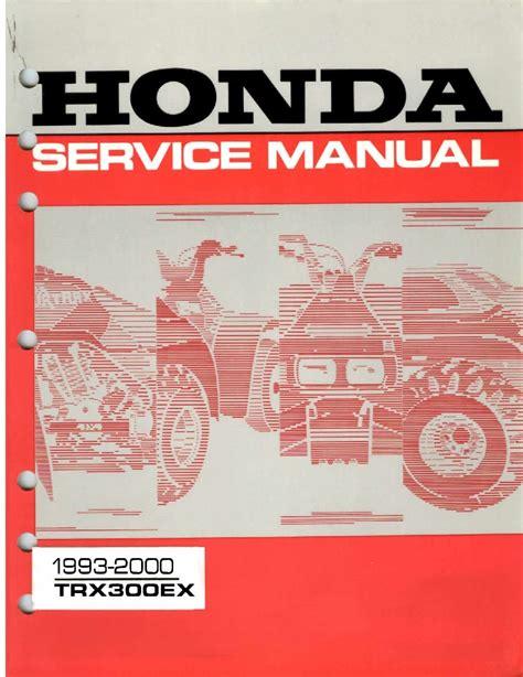 Honda Trx 300 Service Manual (ePUB/PDF) Free