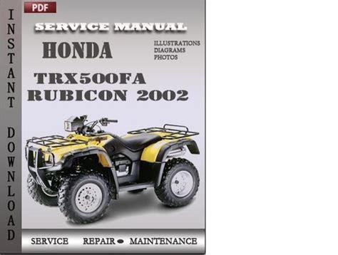 Honda Trx500fa Repair Manual (ePUB/PDF)