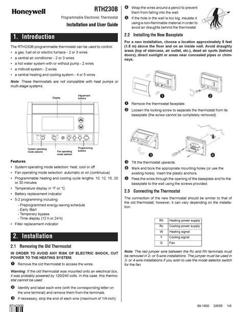 Honeywell Rth230b Manual (ePUB/PDF)