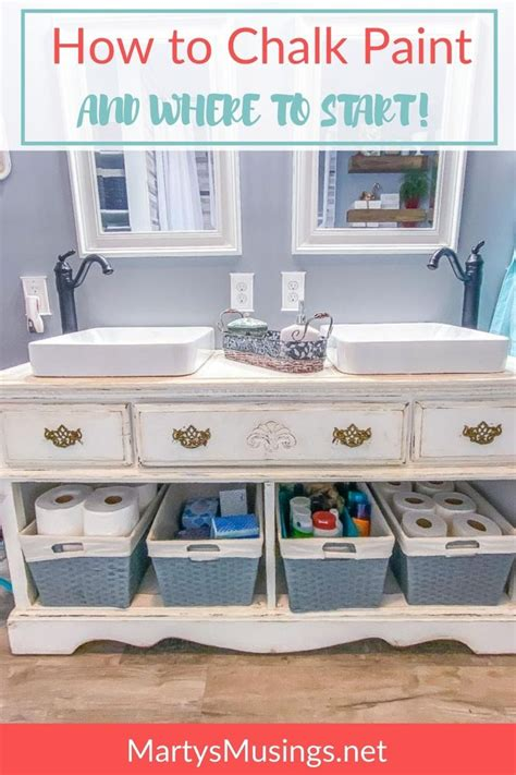 How to Chalk Paint Furniture Marty s Musings DIY