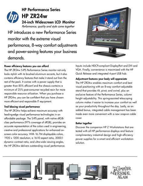 Hp Zr24w Manual (ePUB/PDF)