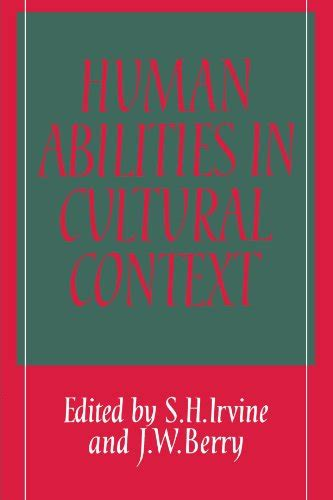Human Abilities In Cultural Context Irvine S H Berry J W (ePUB/PDF)