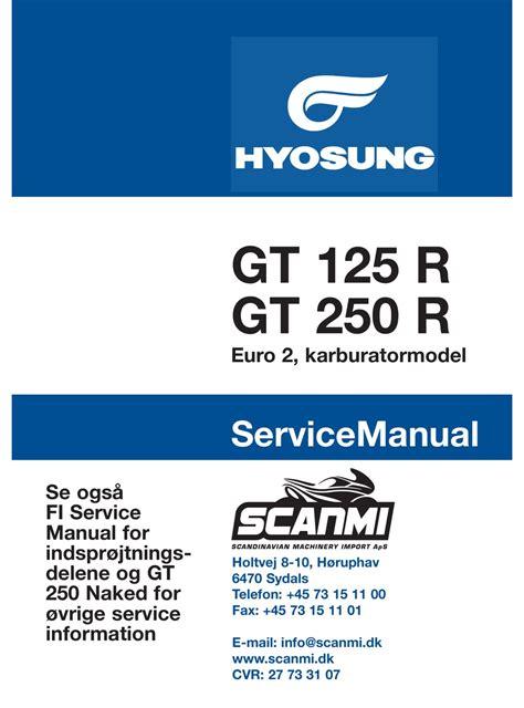 Hyosung Gt250 Service Manual (ePUB/PDF)