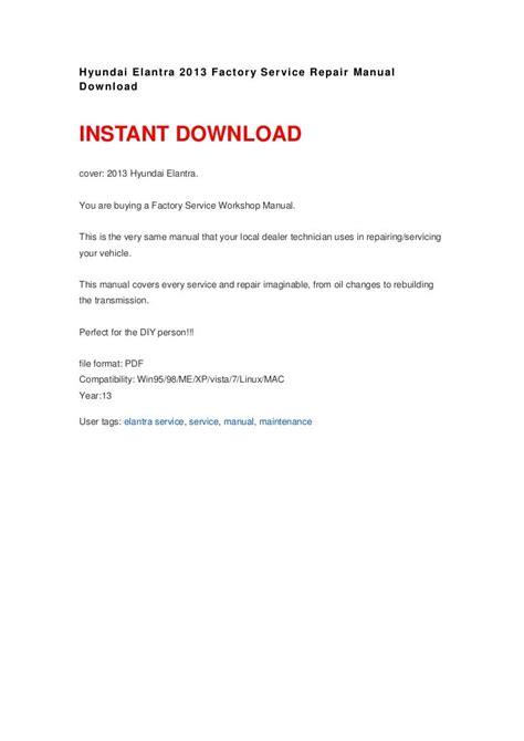 Hyundai Factory Repair Manual (ePUB/PDF)