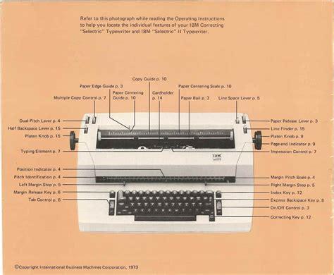 Ibm Selectric Typewriter Manual (ePUB/PDF) Free