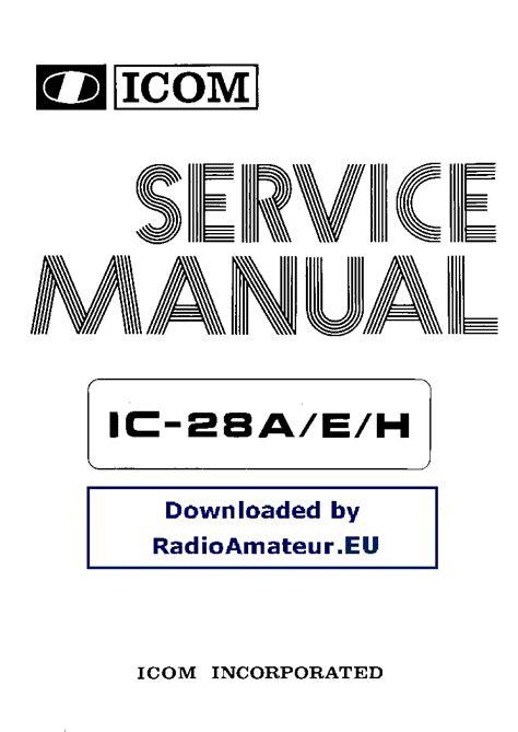 Icom 28h Manual (ePUB/PDF) Free