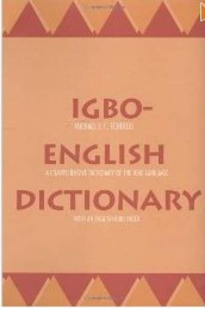 Igbo English English Igbo Dictionary Phrasebook Hippocrene ...