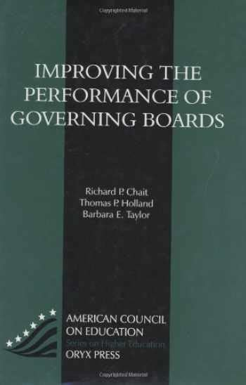 Improving The Performance Of Governing Boards ACEPraeger Series On Higher Education