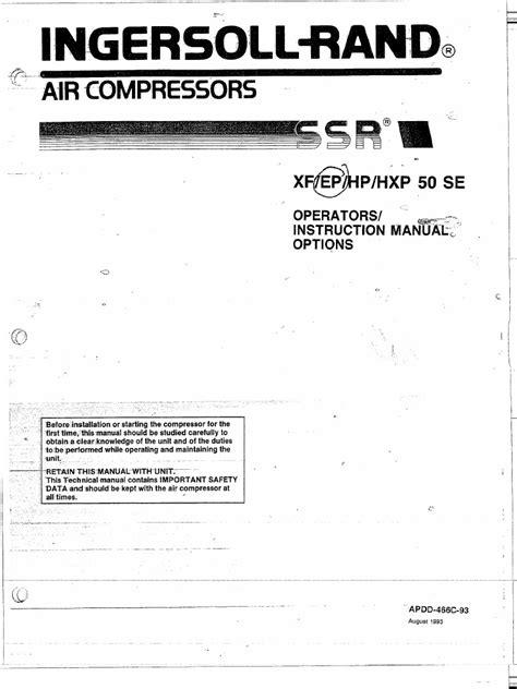 Ingersoll Rand Ep 50 Manual (ePUB/PDF)