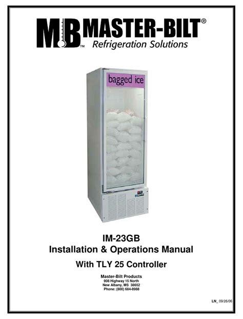 installation operations manual master bilt