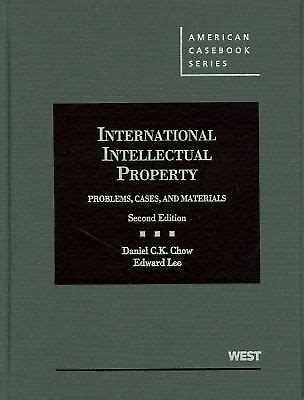 International Intellectual Property Problems Cases And Materials American Casebook Series