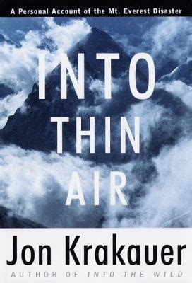 Into Thin Air A Personal Account Of The Everest Disaster English Edition