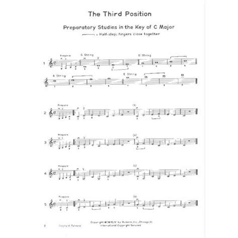 Introducing The Positions For Violin Volume 1 Third And Fifth
