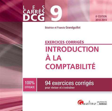 Introduction A La Comptabilite Dcg 9 94 Exercices Corriges Pour Reviser Et Sentrainer