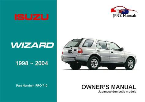 Isuzu Wizard Workshop Manual - unlimited.member.files.panel.pdf ...