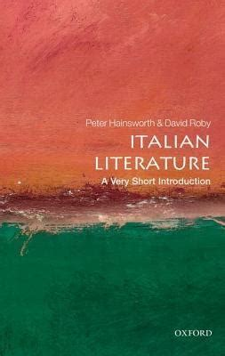 Italian Literature A Very Short Introduction