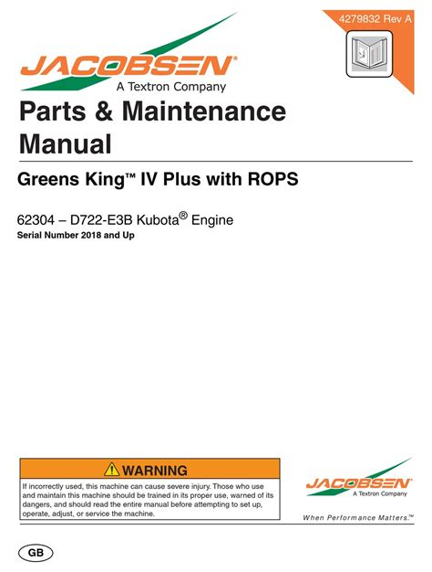Jacobsen Repair Manuals | Pdf/ePub Library