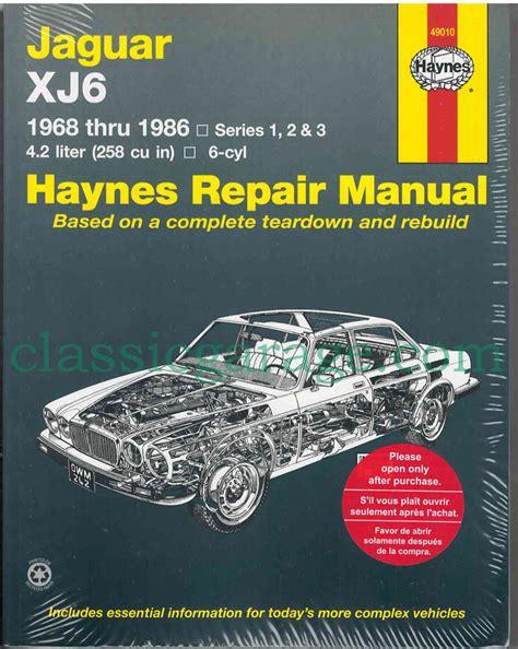 Jaguar Xj6 Service Manual (ePUB/PDF)
