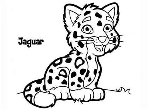 Jagwar Cartoon Coloring Page