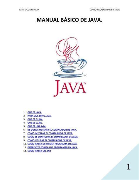 Java Manual Basico (ePUB/PDF) Free