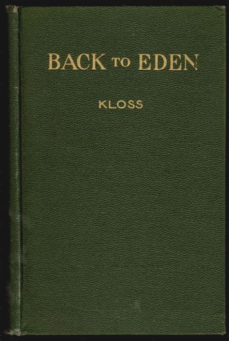 Jethro Kloss Back To Eden (ePUB/PDF) Free