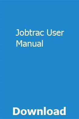 Jobtrac User Manual (ePUB/PDF)