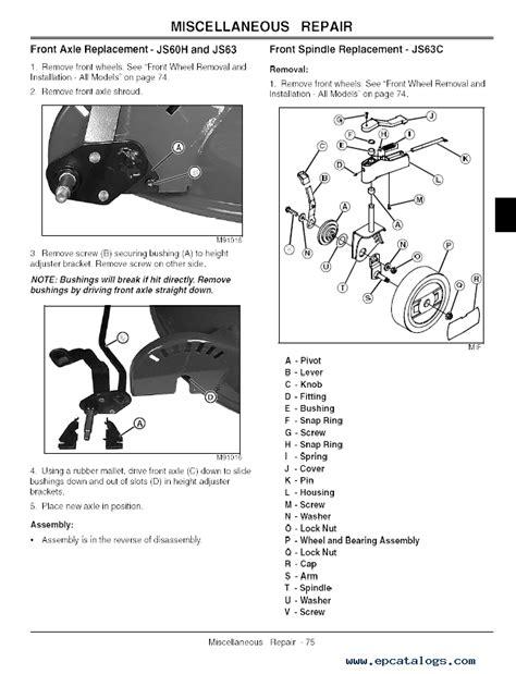 John Deere Js63 Parts Manual (ePUB/PDF) Free