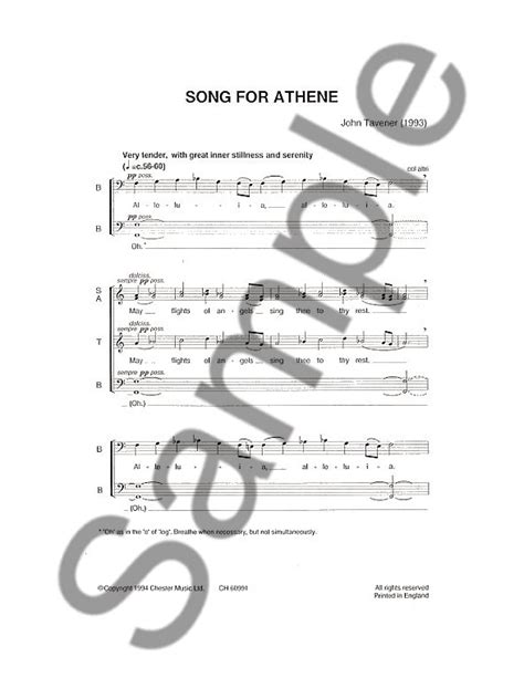 John Tavener Song For Athene Alleluia May Flights Of Angels Sing Thee To Thy Rest
