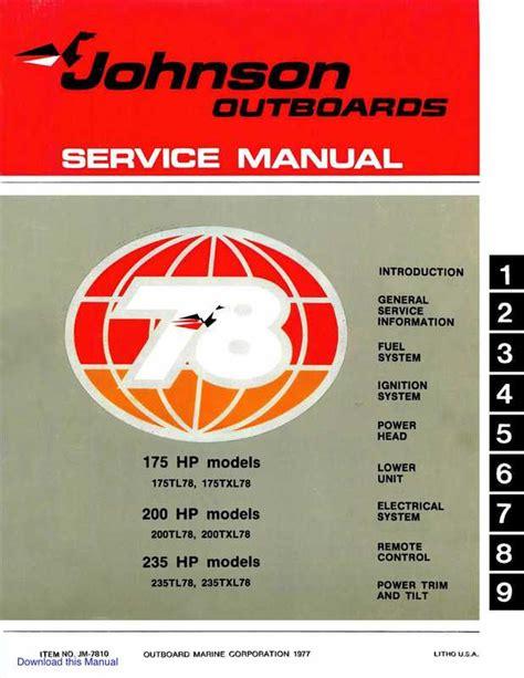Johnson Outboard Service Manual (ePUB/PDF) Free
