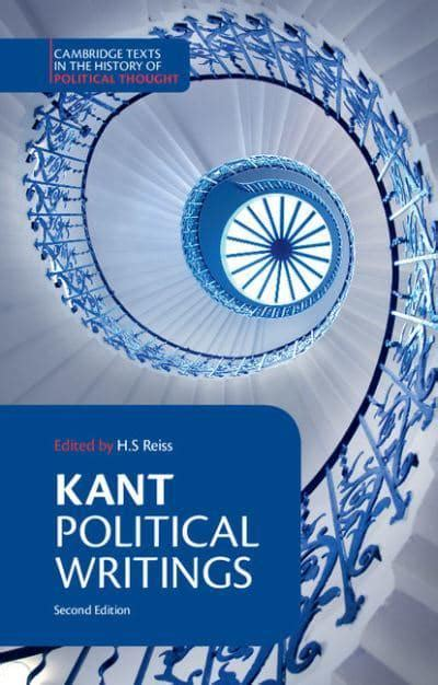 Kant Political Writings Cambridge Texts In The History Of Political Thought