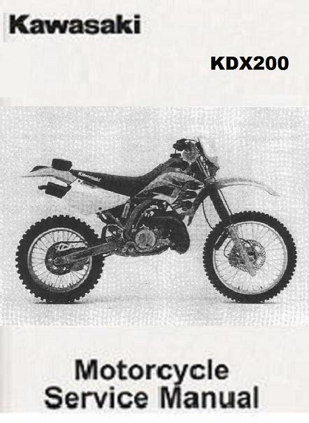 Kawasaki Kdx200 1989 1994 Repair Service Manual Pdf (ePUB/PDF)