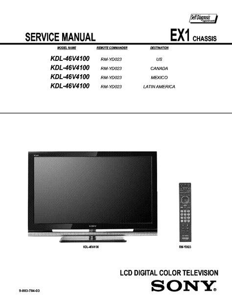 Kdl46v4100 Manual (ePUB/PDF)